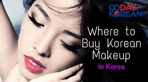 where to korean makeup in korea