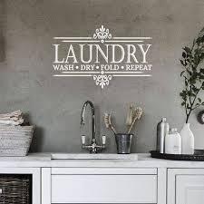 Laundry Room Decor Vinyl Decal Vinyl Stickers Wall Etsy