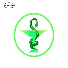 Hotmeini Car Styling Sticker Medical Caduceus Pharmacy Logo Vinyl For Store Shop Work Truck Home Car Sticker 13cm X1 3cm Car Stickers Aliexpress