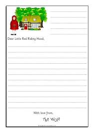 Wolf Sorry Letter Writing Frames (Little Red Riding Hood) (SB9125 ...