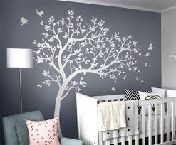 Amazon Com Baby Room Tree Wall Decal Nursery Wall Decor Tree With Bids Decal Set Kw032r Handmade