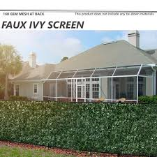 72 Artificial Faux Ivy Leaf Privacy Fence Screen Decor Panels Outdoor Hedge H