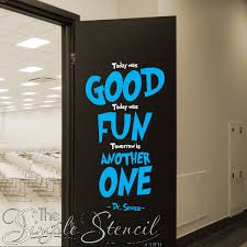 Today Was Good Today Was Fun Dr Seuss Wall Quote Wall Lettering Wall Decals The Simple Stencil