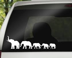 Elephant Family Car Window Decal Adventure Family Decal Etsy Family Decals Family Stickers Elephant Family