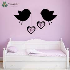 Yoyoyu Wall Decal Love Birds Wall Quotes Sticker Removable Decal For Living Room Bedoom Romantic Love Home Decoration Qq104 Wall Stickers Aliexpress