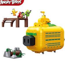 In Stock New Movie Cute Birds 2 Pig Trick Leonard Big Submarine War Room Building Blocks Sets Bricks Model Kids Kits Toys Ideas Blocks Aliexpress