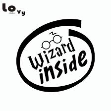 80s Classic Film Harry Potter Car Sticker Wizard Inside Funny Warning Sign Vinyl Car Decal Vinyl Car Decal Car Decalcar Sticker Aliexpress