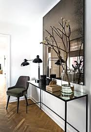 foyer mirrors and tables contemporary
