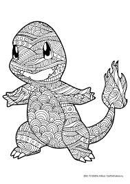Malarbild For Vuxna Farglagg Pokemon Charmander Pokemon