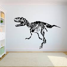 Dinosaur T Rex Wall Decals Vinyl Dinosaur Skeleton Wall Sticker For Kids Room Teenager Room Decoration Customized X093 Wall Stickers Aliexpress