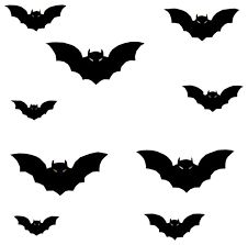 60 Pcs With 4 Sizes Halloween Window Decorations Indoor Outdoor Halloween Bat Decorations Wall Decal Wall Stickers Murals