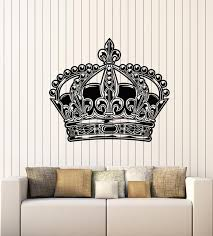 Vinyl Wall Decal Royal Emperor King Queen Beautiful Crown Stickers Mur Wallstickers4you