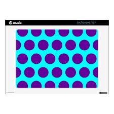 Aqua And Purple Polka Dots Decal For Acer Chromebook Zazzle Com