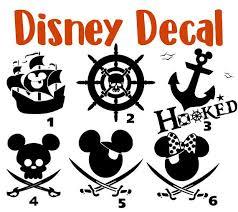 Disney Pirate Decal Disney Decal Yeti Disney Sticker Disney Decals Disney Car Decal Disney Laptop Decal Disney Mickey Disney Decals Vinyl For Cars Disney