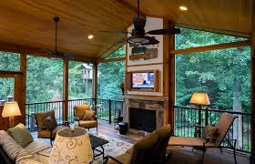 electric fireplace for screened porch