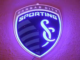 Kansas City Sporting Soccer Led Bar Sign Man Cave Garage Lighted Metal Man Cave Garage Sign Man Man Cave Home Bar