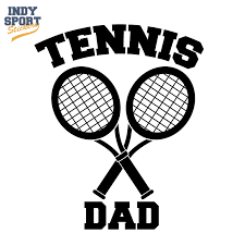 Dual Tennis Racquets Crossed With Tennis Dad Text Decal Car Stickers And Decals