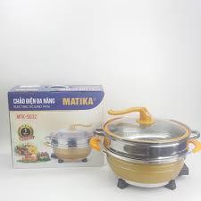 Chảo điện đa năng Matika cao cấp MTK-9032 - Hàng chính hãng - Nồi lẩu điện