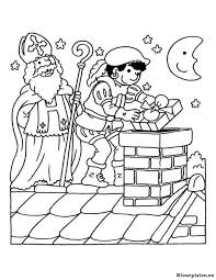 Sint En Piet Op Het Dak Kleurplaat