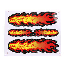 Fire Flame Pattern Stick On Decorative Ornaments Stickers For Auto Car Decal Walmart Com Walmart Com