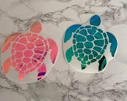 Sea Turtle Car Decal Etsy