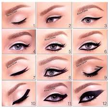 diffe ways to apply eye makeup cat