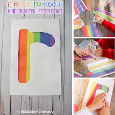 letter r craft r is for rainbow