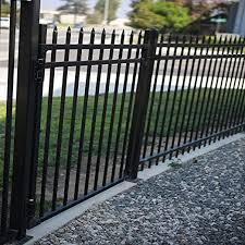 Amazon Com Aspen Style 3 Rail Steel Fence Gate Powder Coated Black 4 W X 5 H Garden Outdoor