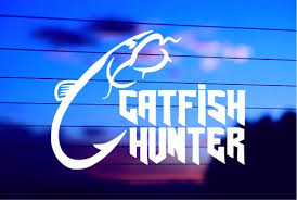 Catfish Hunter Car Decal Sticker