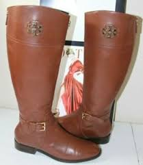 B83 *P Tory Burch Adeline Brown Leather Riding Boots Sz 11 $498 | eBay