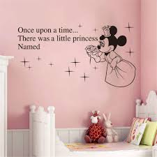Amazon Com Oisiu Mickey Mouse Wall Sticker Decal Creative Kawaii For Kids Rooms Custom Baby Names Minnie Mickey Mouse Princess Removable Wall Home Kitchen