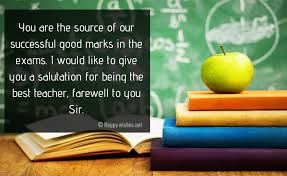 farewell quotes for teacher goodbye wishes