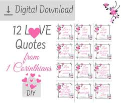 printable corinthians love is patient love is kind bible