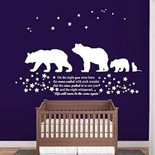 Amazon Com Wall Decal Vinyl Sticker Decals Art Decor Design 3 Bears Cat Sign On The Night You Were Born Stars Family Baby Kids Nursery Bedroom R529 Home Kitchen