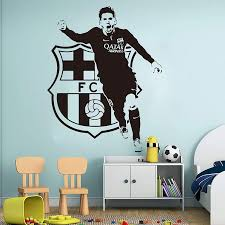 Amazon Com Leo Messi Football Players Wall Decals Barcelona Soccer Player Decals Athlete Sport Messi Barcelona Wall Sticker Vinyl Kids Room Decor Custom Color Home Kitchen