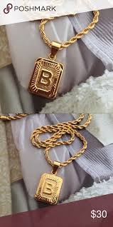 18k yellow gold plated letters