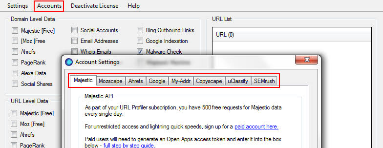 Image result for url profiler overview""