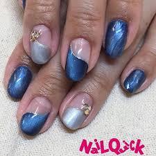 blue french nail art frenchnails