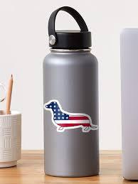 American Flag Dachshund Dog Sticker By Artisticattitud Redbubble