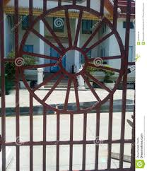 Wrought Iron Fence Circle Design Stock Photo Image Of Retro Steel 100940130