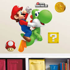 Nintendo Yoshi And Mario Giant Wall Decals Us Wall Decor