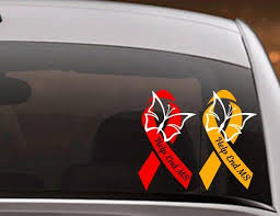 Ms Awareness Ribbon Car Decal Car Decal For Women Decal For Awareness Laptop Decal Sticker Yeti Tumbler Cup Decal Multiple Sclerosis In 2020 Laptop Decal Stickers Cup Decal Awareness Ribbons