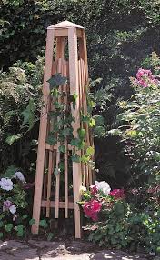 wood garden obelisk trellis plans diy