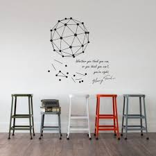 Science Art Henry Ford Motivational Quote Plus A Geometric Minimal Engineering Wall Decal For Museums Schools Creative Scientific Decor In 2020 Inspiration Wall Wall Decals School Creative