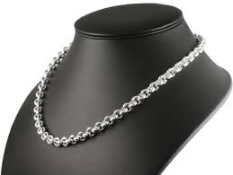 men s heavy solid silver belcher chain
