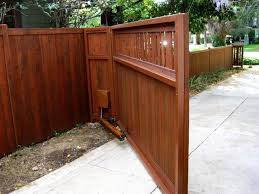 Craftsman Style Front Driveway Gate With Automatic Opener Driveway Gate Diy Wood Gates Driveway Driveway Gate