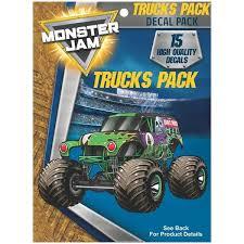Monster Jam Trucks Decal Pack