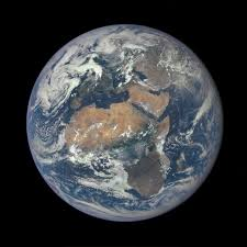 africa and europe from a million miles