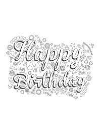 Verjaardag Happy Birthday Verjaardagskaart Ideeen Kleurplaten