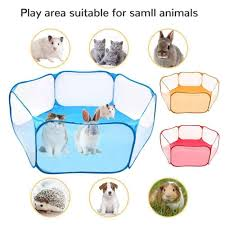 Portable Small Pet Cage Transparent Hedgehog Cage Tent Pet Playpen Open Folding Yard Fence For Dog Hamster Rabbit Guinea Pig Cages Aliexpress